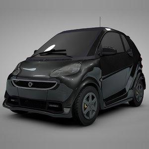 3D smart daimler black l308