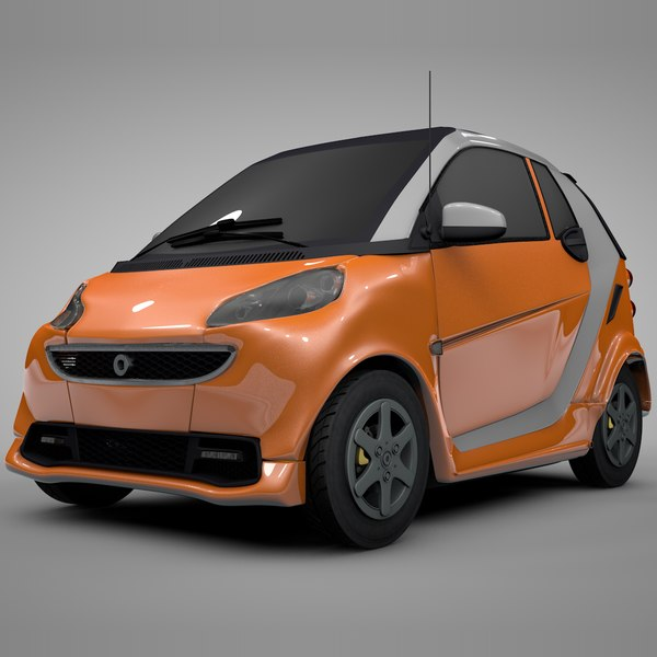 3D model smart daimler orange white