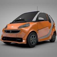 3D model smart daimler orange white