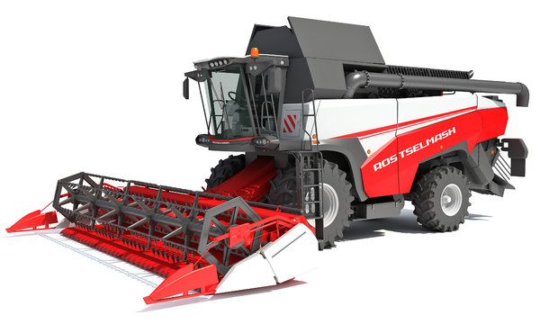 3D rostselmash combine harvester model