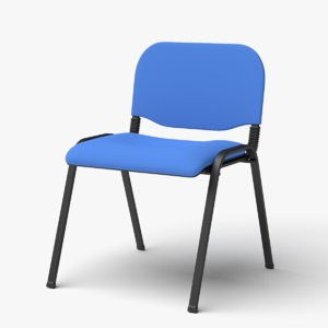 stackable office visitor chair 3D model