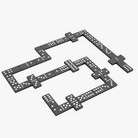 domino knuckles set 3D model