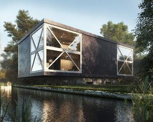 realistic exterior woods 3D model