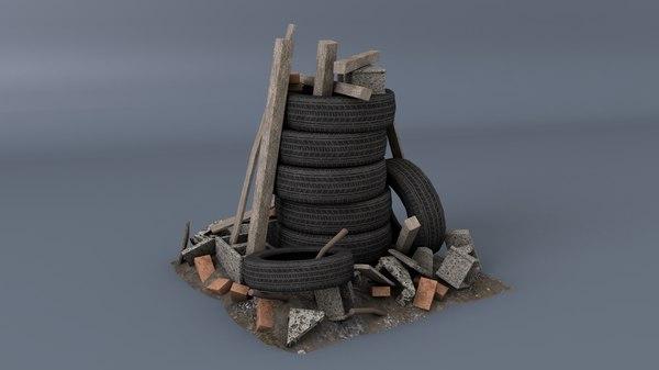 3D scrap asset model