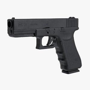 glock 22 pistol 3D model