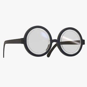 3D nerd geek eyeglasses
