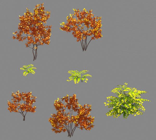 forest - red leaf 3D model
