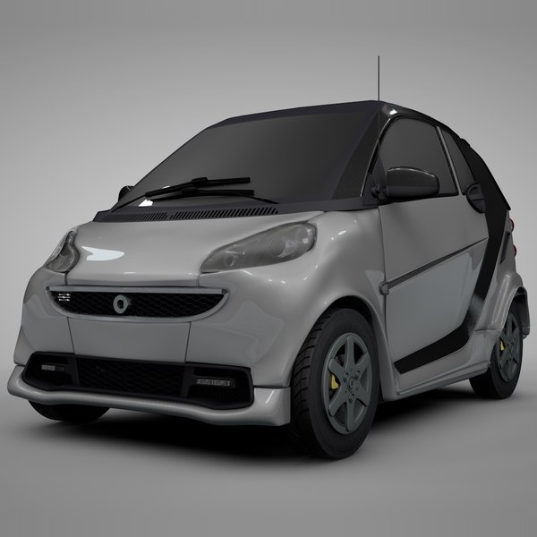 smart daimler white black 3D model