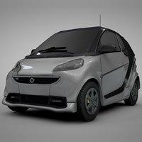 smart daimler white black 3D model