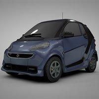smart daimler blue black 3D model