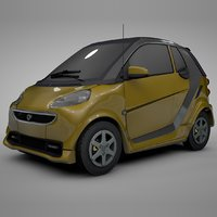 smart daimler yellow silver model