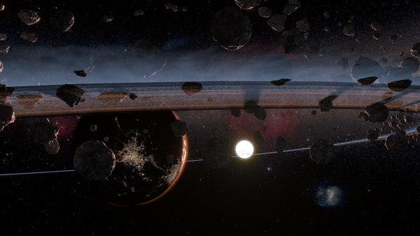 asteroids planet 3D model