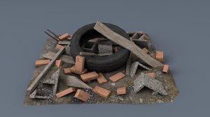 3D model scrap asset