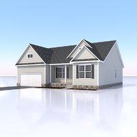 single family home 3D model