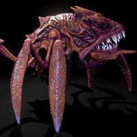 3D alien crab monster creature