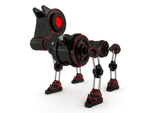 3D robot dog model