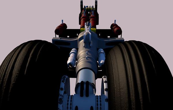3D model landing gear tren aterrizaje
