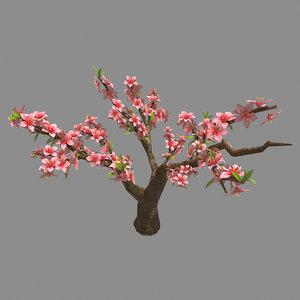 3D trees - peach 25