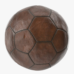 old leather ball v2 3D model