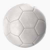 3D new white soccer ball model