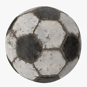 3D scratched soccer ball model