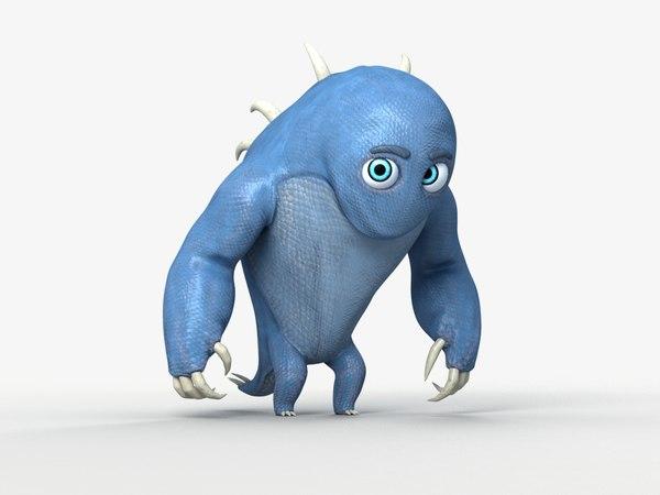 funny monster horns 3D model