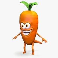 ready cartoon mad carrot 3D model