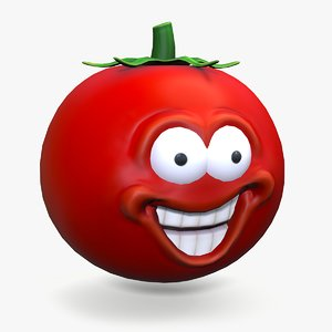 tomato smile smiley 3D model