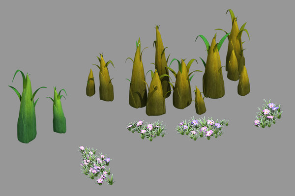 3D forgetful forest - bamboo
