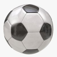 shiny soccer ball 3D model