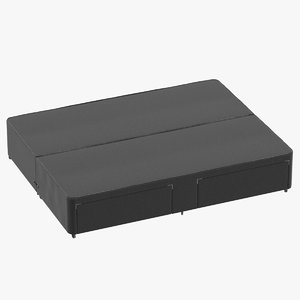 3D bed base 01 charcoal