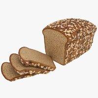 realistic multigrain bread 3D