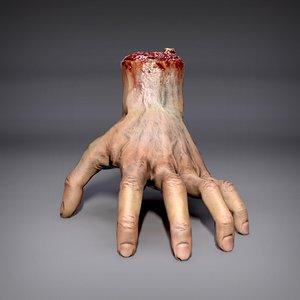 severed hand 3D model