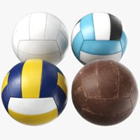 generic volley balls 3D