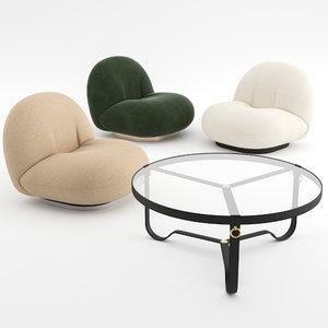 pacha lounge chair gubi 3D