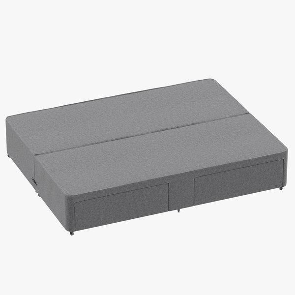 bed base 01 grey model