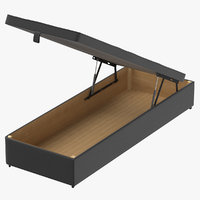 bed base 02 charcoal 3D
