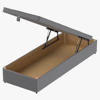 bed base 02 grey 3D model
