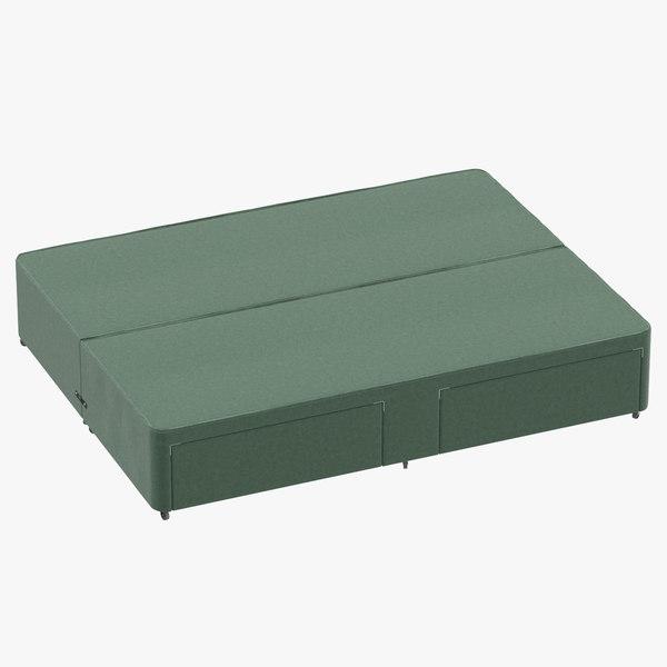 3D bed base 01 mint