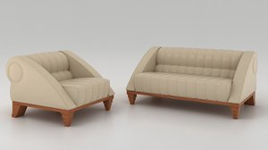 aries armchair sofa 3D