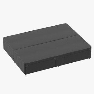 3D bed base 03 charcoal model