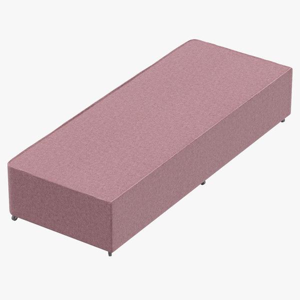 3D bed base 04 blush model