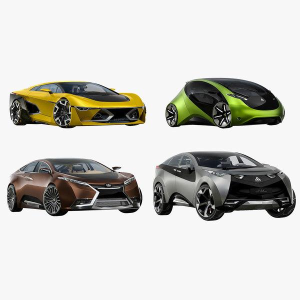 3D car 1 futuristic model