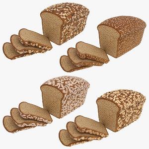realistic multigrain bread model