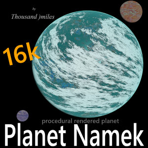 3D planet namek
