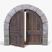 ready arched door 3D model