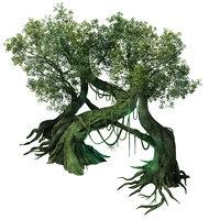 3D leprechaun forest - tree model