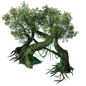 3D leprechaun forest - tree model