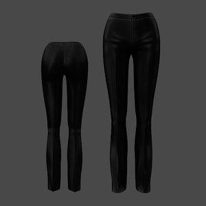 formal pants black 3D model