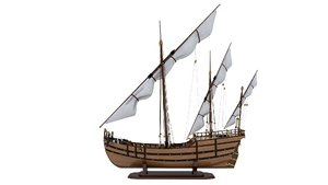 ship wooden wood 3D